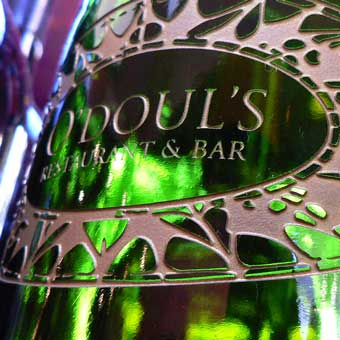 O'Doul's Identity etched glass